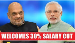 How much salary will government cut for a year?