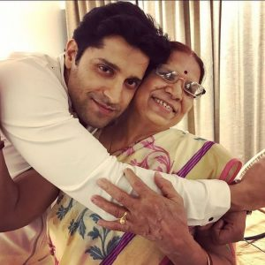 Pracheen Chauhan with his Mom