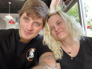Ryan Upchurch with his wife